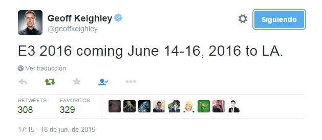 Fechas E3 2016