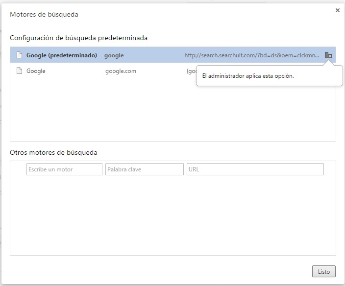 Malware en el motor de búsqueda