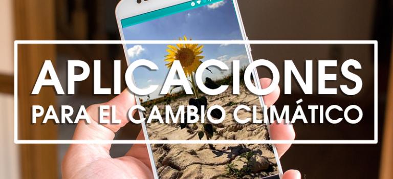 Aplicaciones para combatir el cambio climático