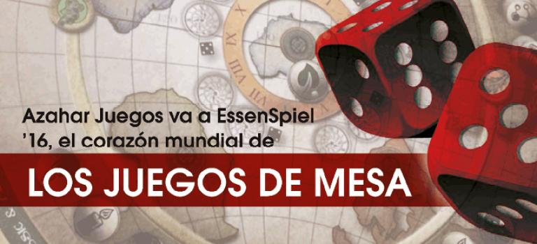 Azahar Juegos va a EssenSpiel '16, el corazón mundial de los juegos de mesa