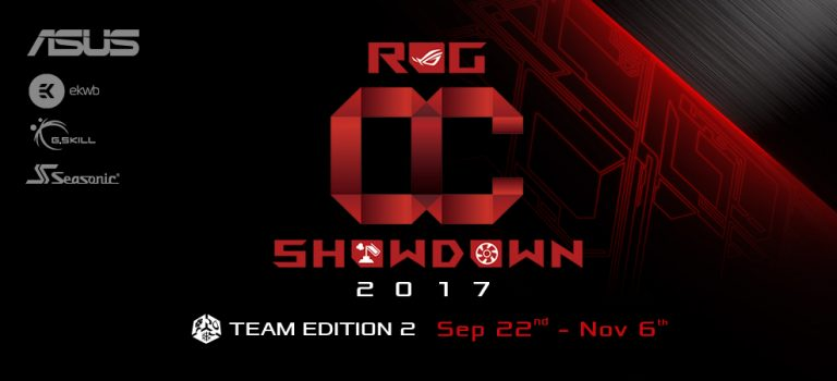 ASUS Republic of Gamers anuncia el OC Showdown 2017 Team Edition 2